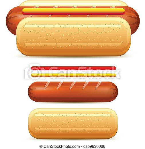 Hotdog Vector Clip Art EPS Images. 3,845 Hotdog clipart vector ...