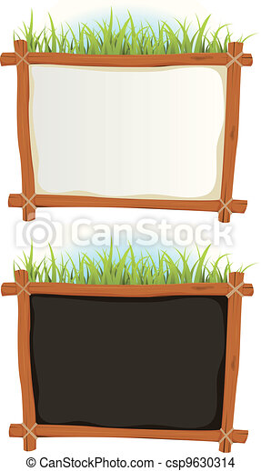 Wood Frame With Sign - csp9630314