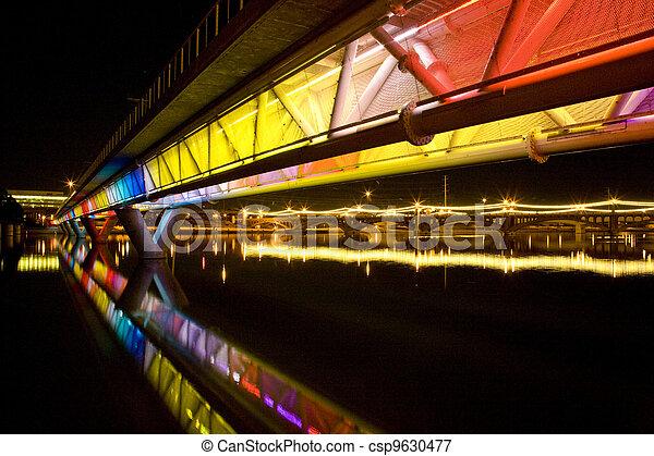 Colorful Bridge in Tempe Arizona - csp9630477