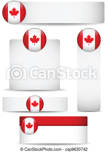 Canada Country Set of Banners - csp9630742