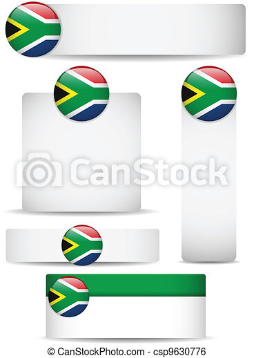 South Africa Country Set of Banners - csp9630776