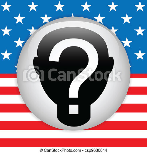 United States Election Vote Button. - csp9630844