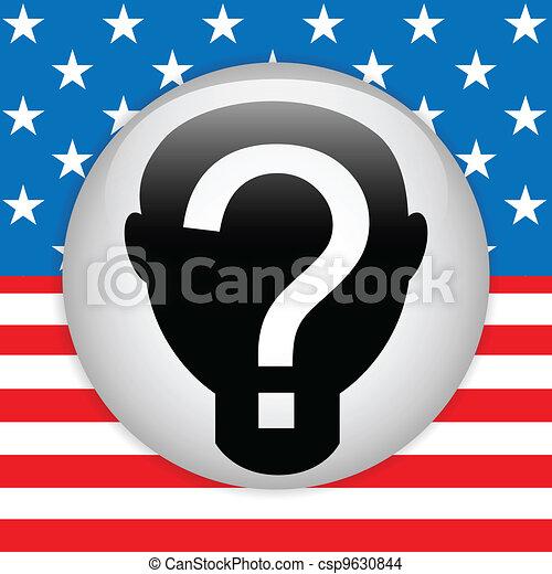 United States Election Vote Button. - csp9630844