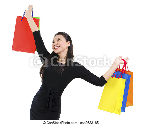 Happy shopper - csp9633185