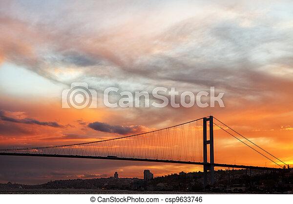 The Bosphorus Bridge connects Europe and Asia - csp9633746