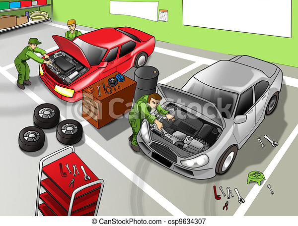 Automobile Repair Shop - csp9634307