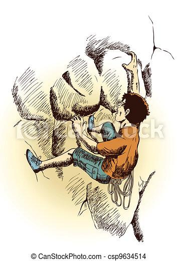 Rock Climbing - csp9634514