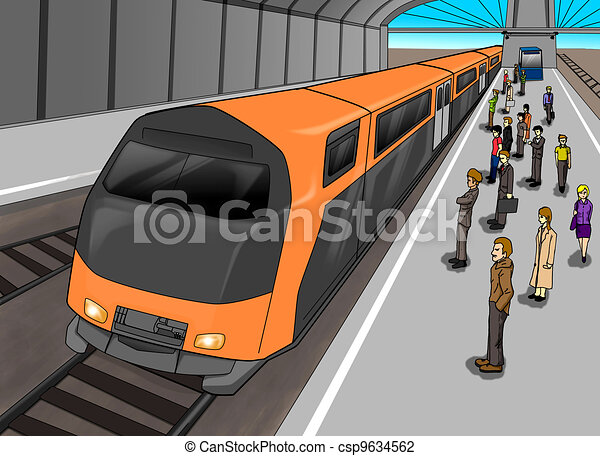 Clip Art Train Station Clipart train station illustrations and clip art 5997 cartoon illustration of people waiting at