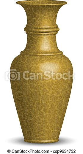 Vector illustration of golden vase - csp9634732