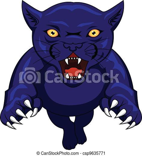 Panther Acttacking - csp9635771