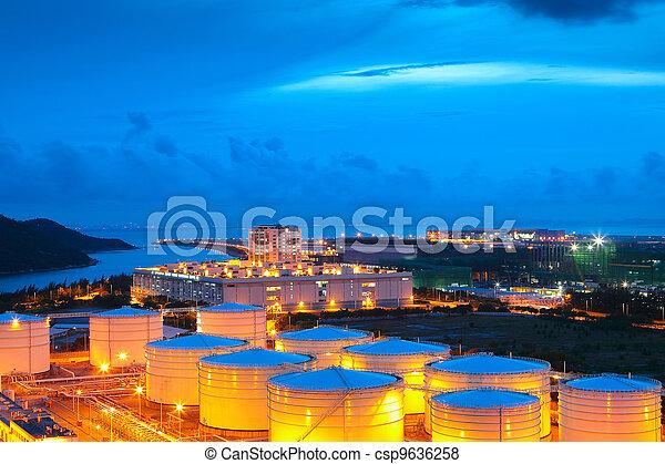 gas tank at night - csp9636258