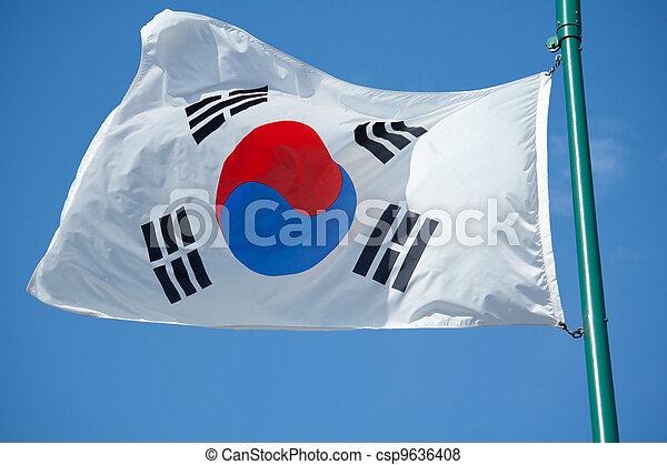 South Korean Flag - csp9636408