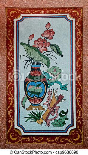 Illustration de ceci style vieux traditionnel color for Quel marque de peinture choisir