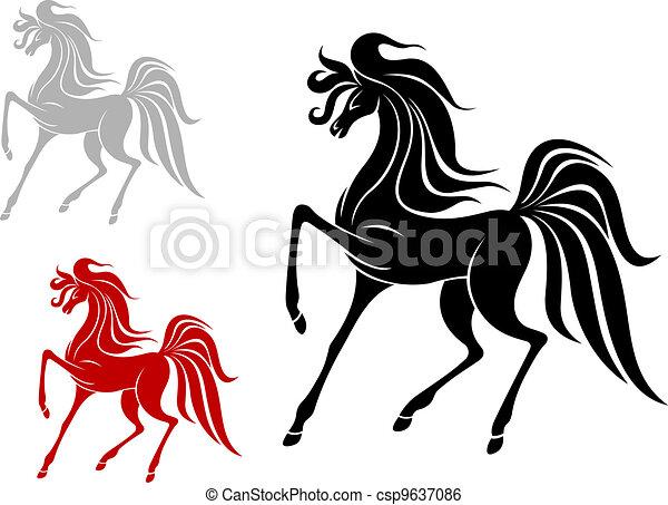 Arabian stallion - csp9637086