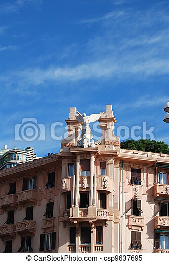 the city of Genoa, Liguria, Italy - csp9637695