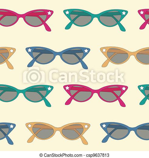 retro sunglasses background - csp9637813