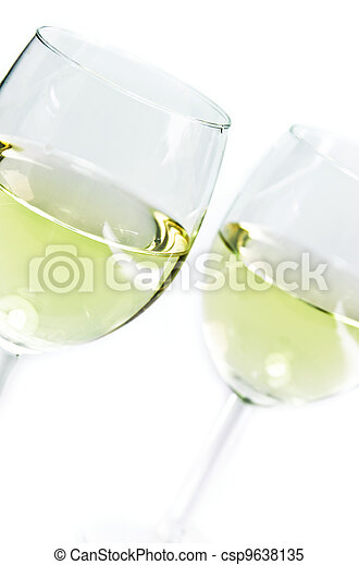 white wine glasses - csp9638135