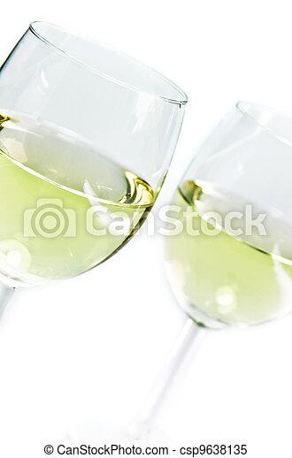 white wine glasses - csp9638135