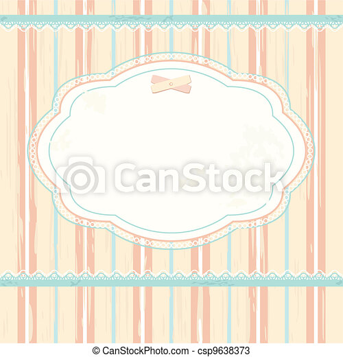Vector background in shabby chic style - csp9638373