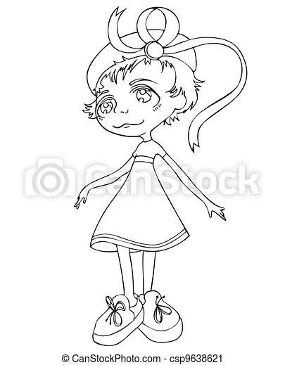 Nice little girl - csp9638621