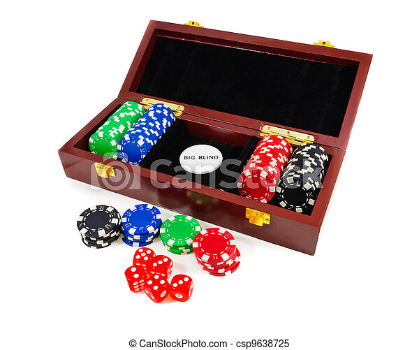 Casino chips. Photo gambling - csp9638725