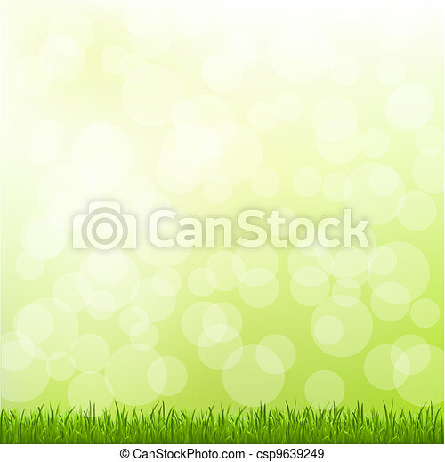 Green Grass And Bokeh - csp9639249