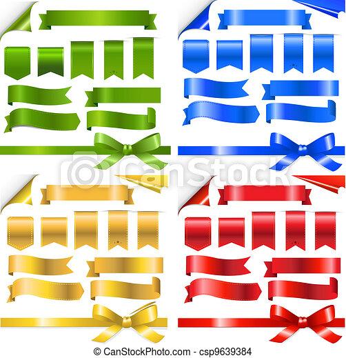 Color Ribbons Set - csp9639384