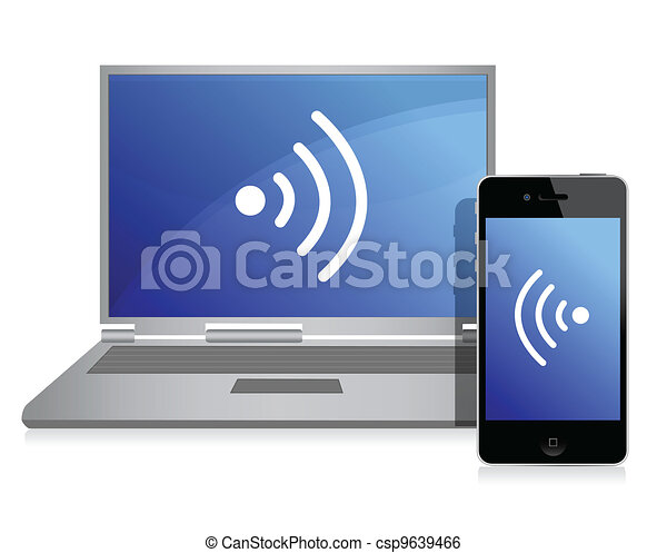 wired connection between mobile - csp9639466