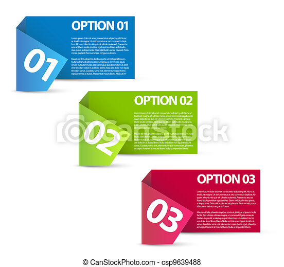 One two three - vector paper options  - csp9639488
