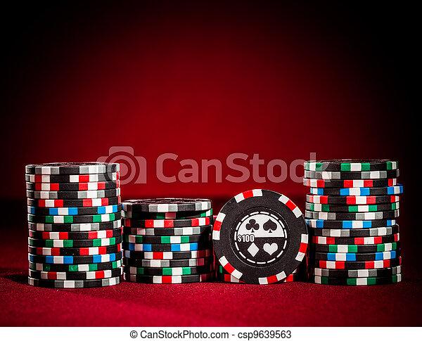 gambling chips - csp9639563