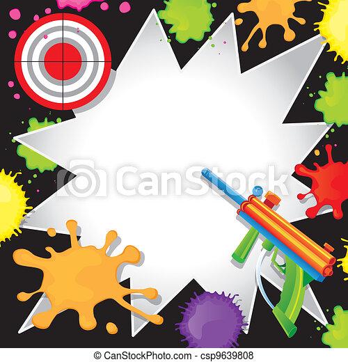Paintball Birthday Invitation - csp9639808