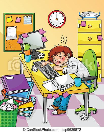 overworked worker - csp9639872
