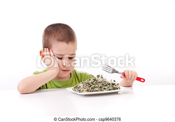 Boy refuses to eating - csp9640376