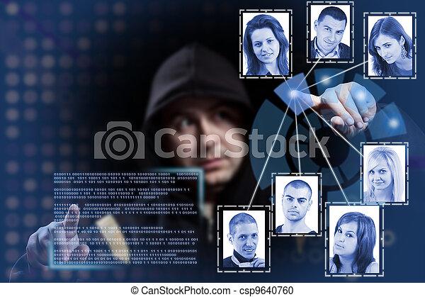 hacker working - csp9640760