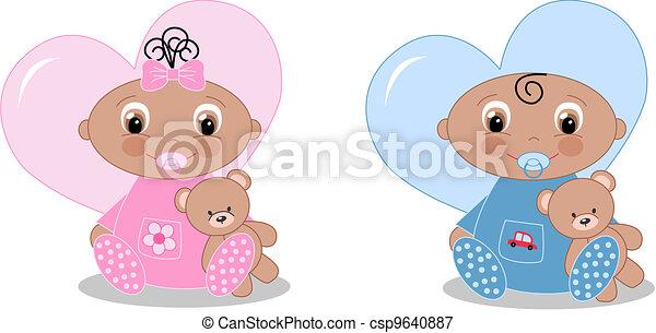 newborn baby announcement - csp9640887
