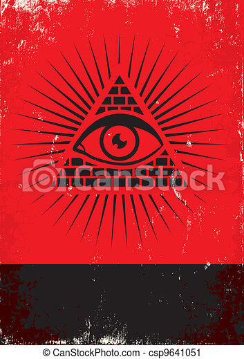 pyramid and the eye - csp9641051