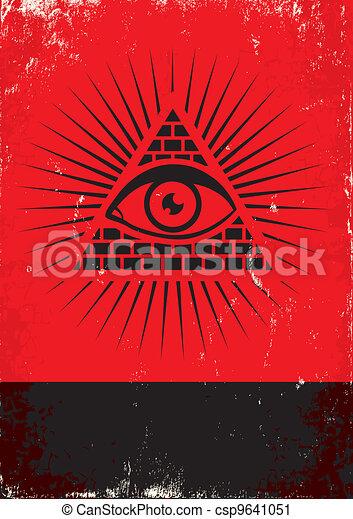 pyramid and the eye - csp9641051