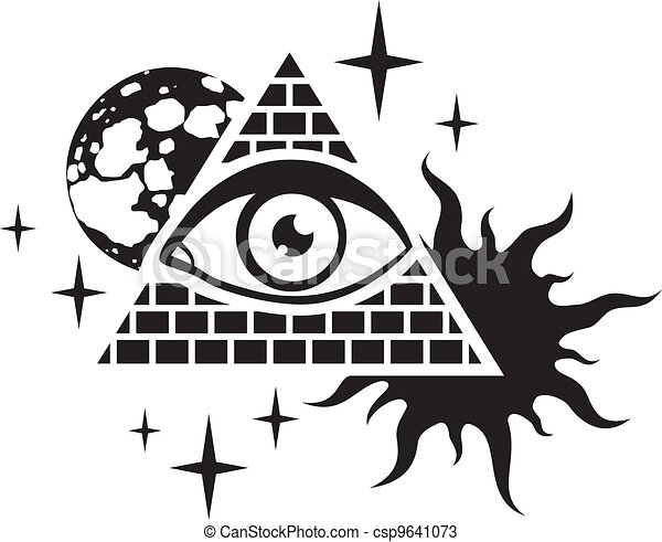 pyramid and the eye - csp9641073