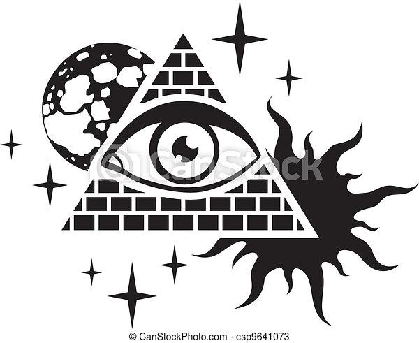 pyramid and the eye - csp9641073