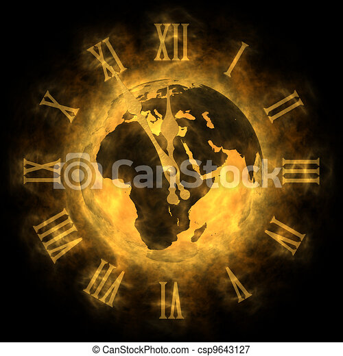 Cosmic time - global warming and climate change - Europe - csp9643127