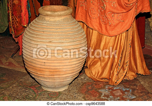 Ancient ceramic vase - csp9643588