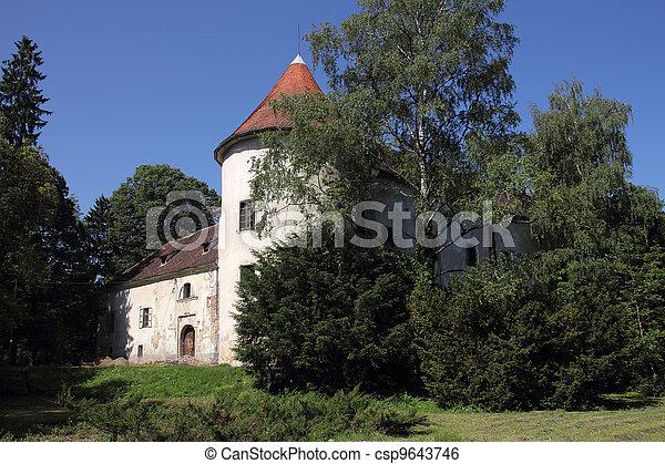 Stock foto gamle forladt slot stock motiv motiver royaltyfrit