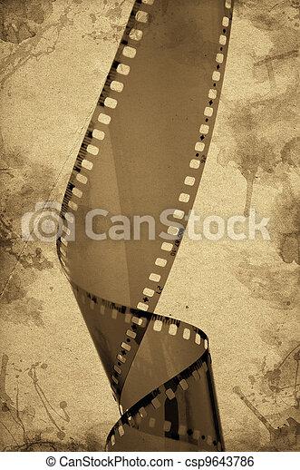Old camera film strip - csp9643786