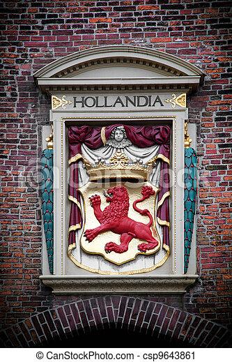 Hollandia sculpture. The Hague, Netherlands  - csp9643861