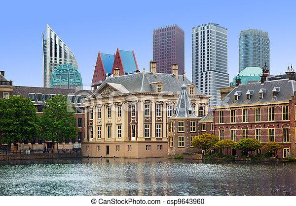 Binnenhof Palace - Dutch Parlament in the Hague - csp9643960