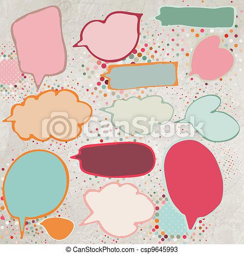 Vintage speech bubbles set. EPS 8 - csp9645993