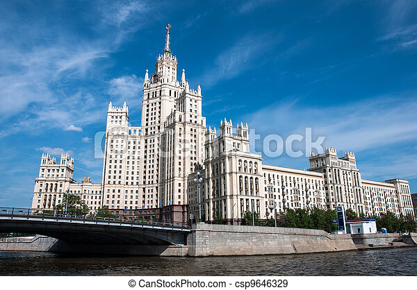 Stalin's house in Moscow, Russia, landmark - csp9646329