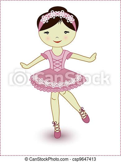 Beautiful lovely girl ballerina - csp9647413