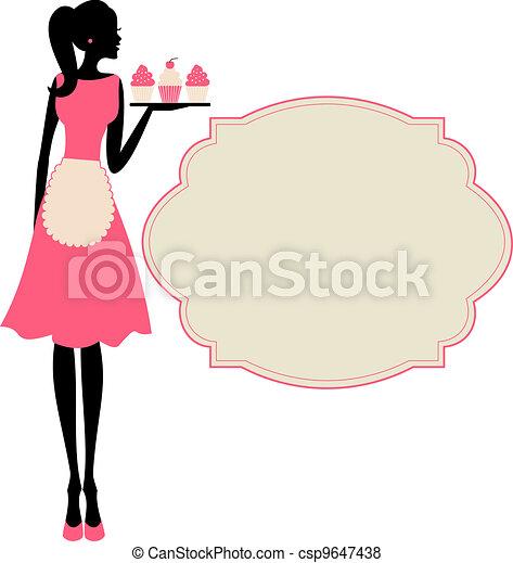 Cupcake Girl - csp9647438
