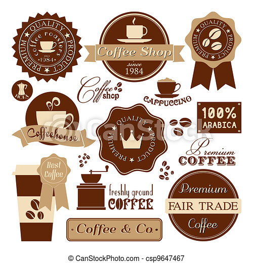 Vintage Coffee Labels - csp9647467